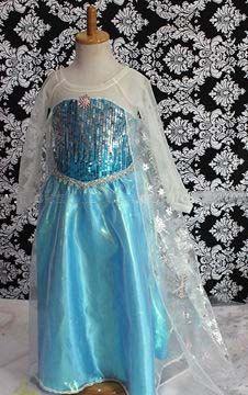 Frozen Inspired Princess Elsa Dress por 3Frogs1LadyBug en Etsy, $44.99