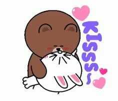 The perfect BrownAndCony Besos Amor Animated GIF for your conversation. Discover and Share the best GIFs on Tenor. Cute Couple Cartoon, Cute Love Cartoons, Cute Cartoon, Love You Gif, Cute Love Gif, Calin Gif, Cartoon Kiss, Cony Brown, Line Friends