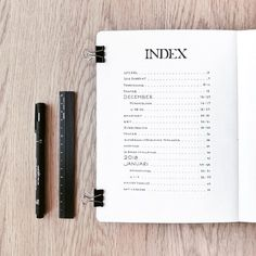 Easy index minimalist. easy index minimalist bullet journal daily Bullet Journal Index Layout, Bullet Journal Designs, Minimalist Bullet Journal Layout, Bullet Journal Spreads, Making A Bullet Journal, Bullet Journal Contents, Bullet Journal August, Organization Bullet Journal, Bullet Journal Cover Page