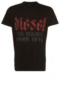 Diesel - GOTH - T-shirt con stampa - nero #diesel #fashion #italy #style #sporty #tshirt
