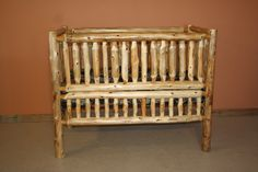 rustic crib furniture. Log Furniture - Barnwood Rustic Furniture: Convertible Baby Crib