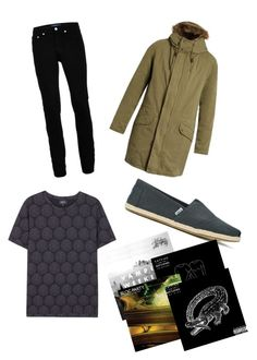 """""""SMS"""" by milkyspill ❤ liked on Polyvore featuring Yves Salomon, Topman, TOMS, A.P.C., men's fashion and menswear"""