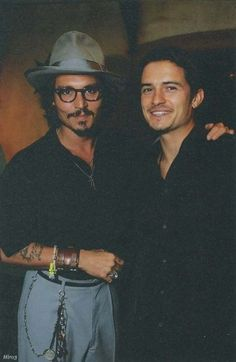 Two of the greatest looking men on this earth #OrlandoBloom