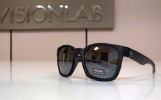 Gafas de sol espejo montura negra Hevian