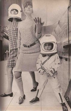 Me my mom and my old sister Mademoiselle, September 1965 ( mod fashion / design / astronaut / atomic age style / space age )