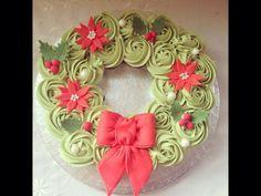 Mini cupcake wreath Cake by TheFairycupcaker