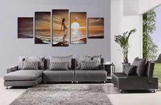 Resultado de imagen para ultima tendencia en decoracion de interiores con cuadros abstractos