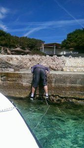 How to destroy your 7th mobile phone... fall out of a boat and tie the mooring line to your leg :)