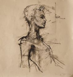 Guy Denning 'personal hierophant' chalk and conte on paper 30 x 28 cm 2nd December 2011