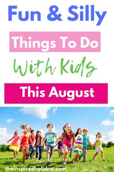 August is easily one of the hottest months of the year which can make finding things to do with kids difficult. Learn fun and silly things to do with kids this August that will help keep them both entertained and cool. Find all the best kid activities to try in August. #kidactivities #ideasforkids #thingstodoinaugust #wackyholiday #sillyholidays August Holidays, Silly Holidays, Infant Activities, Family Activities, Silly Things, Things To Do, Elephant Day, Create Awareness, Dramatic Play