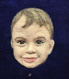 Felted portrait by www.conspiracyofloveart.com
