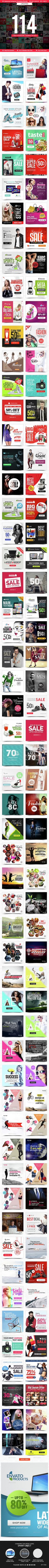 Instagram Templates Bundle - 114 Designs - UPDATED!