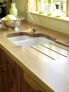 Save Money On Your New Kitchen - Home Renovation Incentive - Natural Wood Dream Kitchens, Home Renovation, New Kitchen, Natural Wood, Furniture Ideas, Saving Money, Sink, Articles, How To Plan