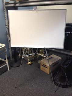 White Board with Adjustable Easel and Carrying Case