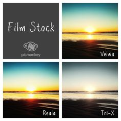 The Film Stock effect offers three popular film looks to give your photo a rich, saturated look. Great for landscapes and portraits with a wide range of lights and darks.