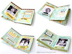 Mini Album using the This and That Collection from Echo Park - papervinenz.blogspot.com/2012/03/this-and-that-mini-album-plus-tutorial.html