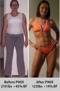 Success with P90X! Very inspiring story. fat loss, weight loss, #fitness  Before and After Photo (P90X3 is now available:  www.heartsongfit.com)
