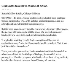 Graduates take new course of action for their futures..