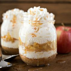 No Bake Caramel Apple Cheesecake - a delicious and decadent dessert that will leave you wanting more!