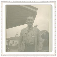John Griffith, Sr in front of Griffith Furniture in the 1950's.
