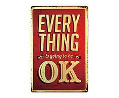 Chapa Retro Every things Ok - 20x30