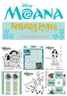 Disney's Moana Activity Pages