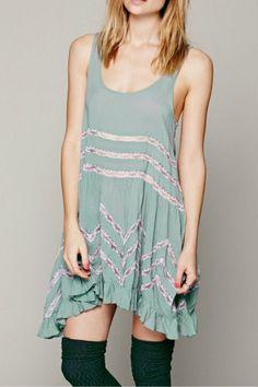 #AdoreWe #CupShe CupShe Dream State Lace Splicing Tank Dress - AdoreWe.com