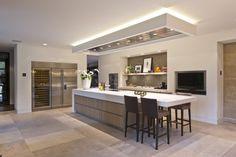 Van Boven - Custom luxury kitchen - High ■ Exclusive living and garden . Luxury Kitchen Design, Luxury Kitchens, Interior Design Kitchen, Cool Kitchens, Living Room Kitchen, Home Decor Kitchen, Kitchen Ideas, Kitchen Queen, Modern Kitchen Cabinets