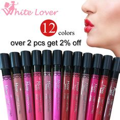 Amazing 12 Colors Matte Lipstick Color Waterproof Long-Lasting Nude Lip Gloss Red Color Vitality Cerise 4.4g Makeup Brand #21010 -  http://mixre.com/amazing-12-colors-matte-lipstick-color-waterproof-long-lasting-nude-lip-gloss-red-color-vitality-cerise-4-4g-makeup-brand-21010/  #Lipstick