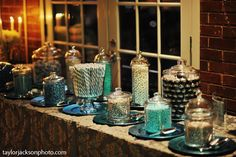 Easy and affordable DIY winter wedding details, including centerpieces, votives, cake topper inspiration, DIY candy bar colors and rock candy projects. Candy Bar Wedding, Diy Wedding, Wedding Ideas, Wedding Favors, Wedding Reception, Wedding Stuff, Dream Wedding, Wedding Inspiration, Wedding Planning