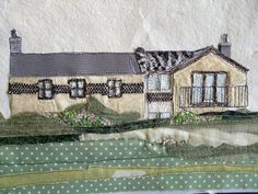 Steph Littlechild Mixed Media Textile Art: May 2010 Hidden House, House Quilts, Textile Artists, Fabric Art, Fiber Art, Mixed Media, Textiles, Houses, Photo And Video