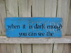 Blue Black Silver Inspirational Sign When It by RachelRepurposed