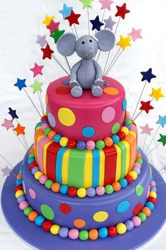 Colorful Cake by Verusca's Cake, via Flickr