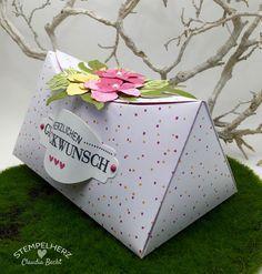 Stampin Up - Stempelherz - Verpackung - Box - Botanical Blooms - Framelits Formen Pflanzen-Potpourri - blumige Kreisbox 03