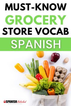 Do you want to become conversationally fluent in Spanish quickly? Learn Everyday, Conversational Spanish with us. Fun and Easy ways to become fluent fast! In this lesson, you will learn how to ask questions at a grocery store to find what you're looking for, and Spanish words for fruits and vegetables. #learnspanish #spanishconversation #spanish #spanishwords #learningspanish