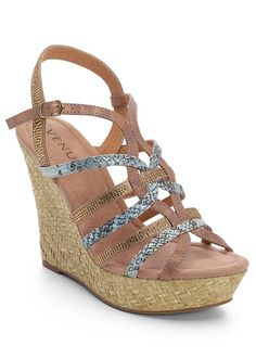 57334f4d452 These wedges are cool and cagey! Snake print and gold accents come together  to make