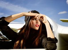 leather/aviator hats for woman by Gena!