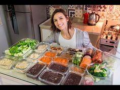 Como organizar almoços saudáveis para semana toda em 2 horas Veggie Recipes, Cooking Recipes, Healthy Recipes, Yummy Drinks, Yummy Food, Comidas Fitness, Menu Dieta, Salty Foods, Breakfast Specials