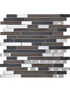 """Daltile Endeavors Zen 5/8"""" x Random Mosaic 15 7/8"""" x 11 7/8"""" F162 Glass Mosaic Tile"""