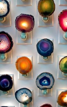 Agate Slice Night Lights // Royal Suzie Boho Decor // Nightlight