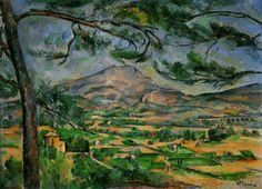 Paul Cézanne - La Montagne Sainte-Victoire au grand pin