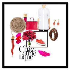 """Red & Fucsia, great love"" by ludovica-loffredo on Polyvore featuring moda, Yves Saint Laurent, Superga, MiH, Giallo, women's clothing, women, female, woman e misses"