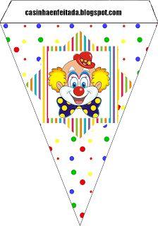 circus theme party kit to print free birthday invitation