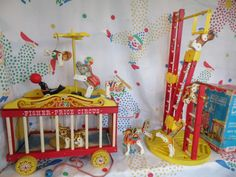 Fisher Price CIRCUS 900 Pull Toy COMPLETE by locknessvintageshed