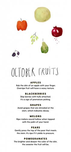 What produce is in season during the fall