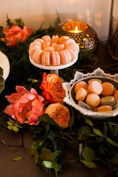 #dessert #display  #earthandsugar #flowers #wedding #flowers  #sweets #styled #table #mini #desserts #macarons #strawberry