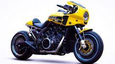 Yard Built 2015 Yamaha VMax 'V-Speed' Café-Dragster by Liberty Yamaha.    http://yamaha-motor.eu/eu/products/motorcycles/sport-heritage/yard-built/dealer-contest/VMAX_v-speed.aspx and/or http://motorcyclecruiser.com/yard-built-vmax-v-speed-by-liberty-yamaha