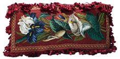 One Kings Lane - VMF - Textiles - Floral Pillow w/ Glass Beads Floral Pillows, Vintage Market, One Kings Lane, Vintage Furniture, Glass Beads, Textiles, Antiques, Art, Vintage Marketplace