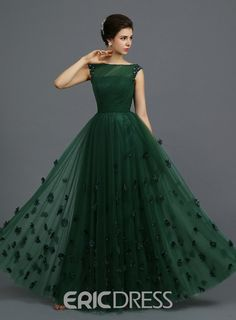 Indian Gowns Parties Dark Green Tulle Sheer A-line Evening Party Dresses Long Floor Length Cap Sleeves 2015 Elegant Prom Dress For Girls Green Evening Dress, A Line Evening Dress, Evening Dresses, Elegant Prom Dresses, Cute Dresses, Girls Dresses, Party Dresses, Dinner Dresses, Women's Dresses