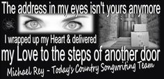 #CountryMusic  http://michaelrey.bandcamp.com  Songwriting is Michael Rey's passion & he's sharing his songs with you